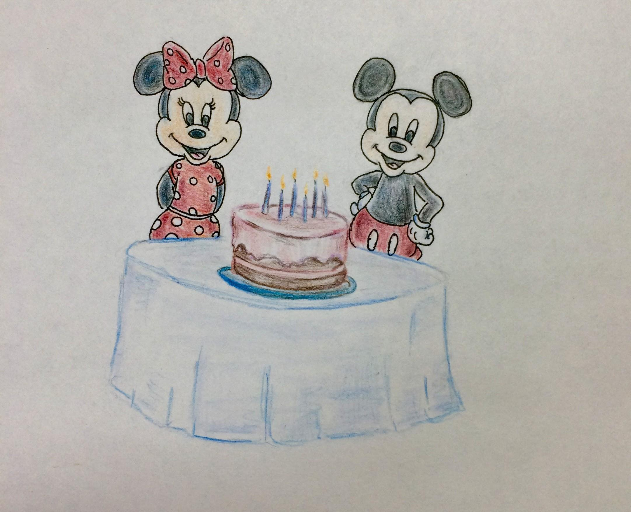 Mickey and Minnie Illustration