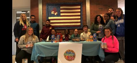(Photo courtesy of Mark Keegan): Winship and her students are pictured at one of the bake sales held at STAC to help raise money for Baking Memories 4 Kids.