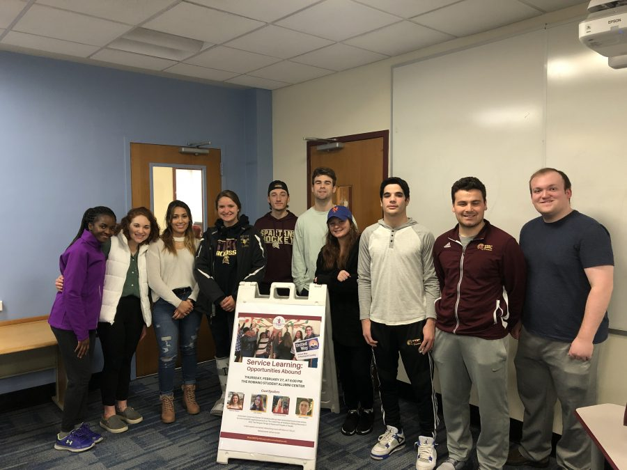 (Photo courtesy Professor Elaine Winship): Some students from Professor Winship's PR Event Planning and Crisis Communication class gather for a group photo.
