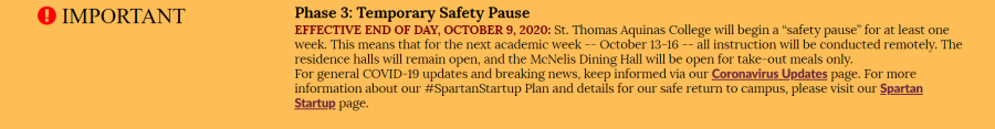 This yellow bar rests atop the homepage of STAC's website and serves as an alert for the third phase. Check your STAC email and monitor the STAC website for further updates.
